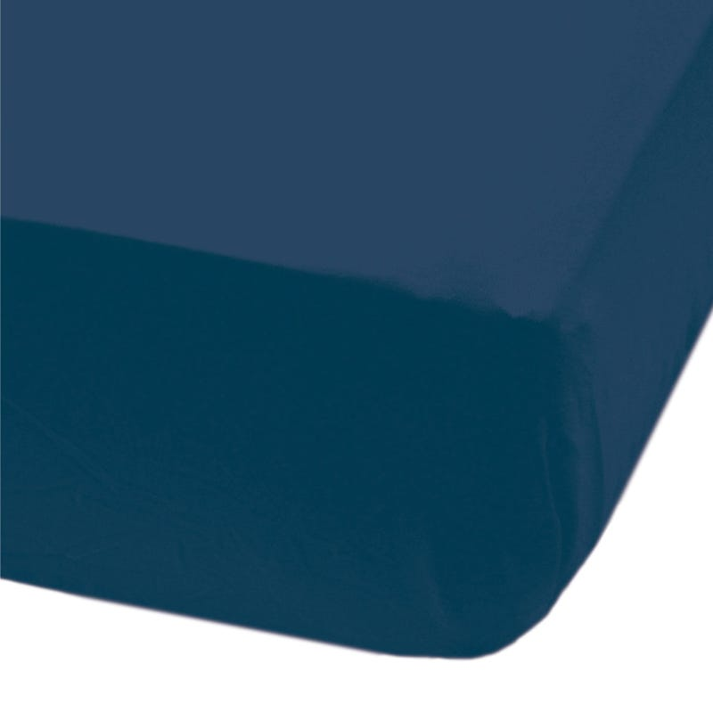 Crib Flat Sheet - Navy