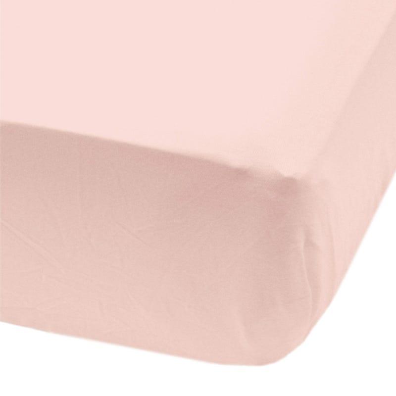 Crib Flat Sheet - Light Pink