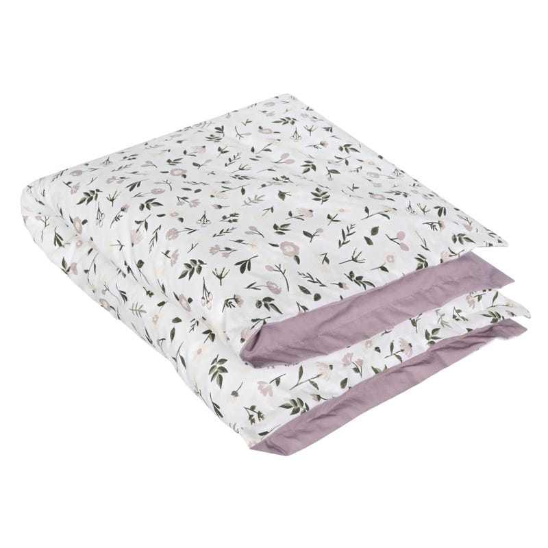 Housse + Couette - Floral Prune