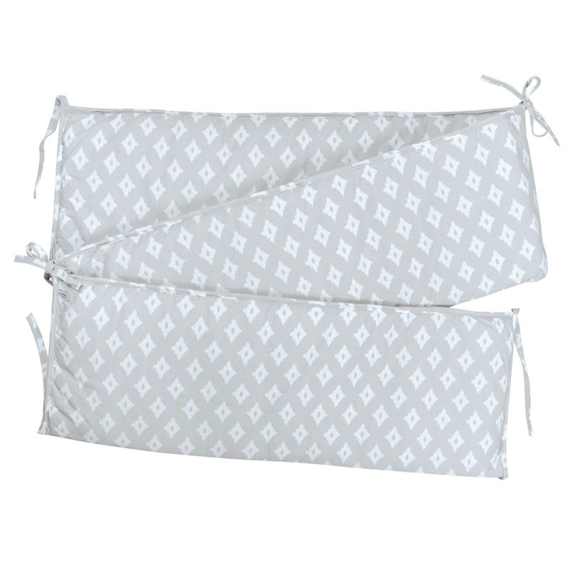 Printed Bumper Pad Diamond - Gray