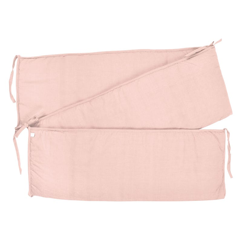 Solid Bumper Pad - Light pink