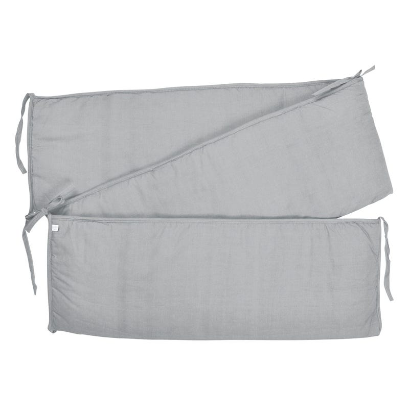 Solid Bumper Pad - Mouse Gray