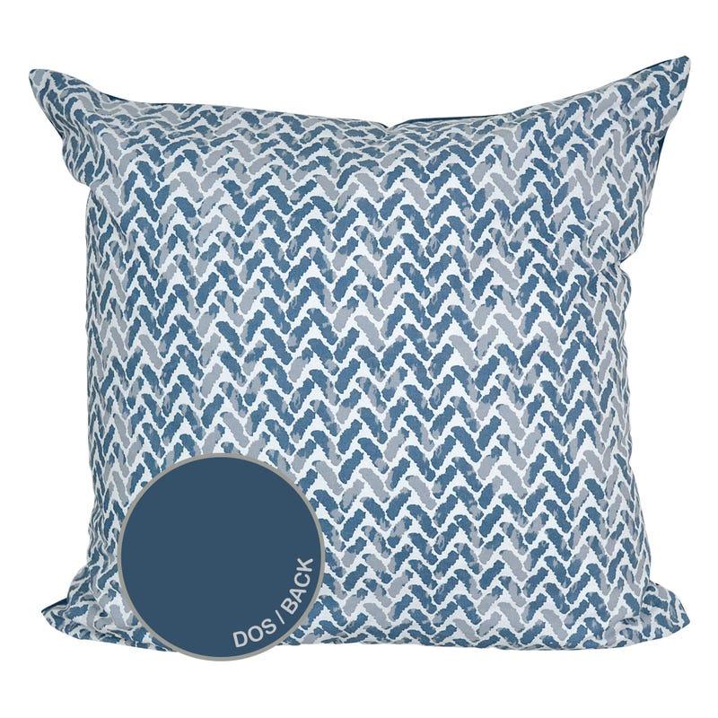 Reversible Large Cushion Chevron - blue