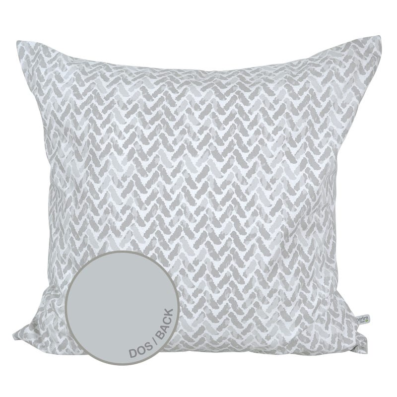 Reversible Large Cushion Chevron - Gray
