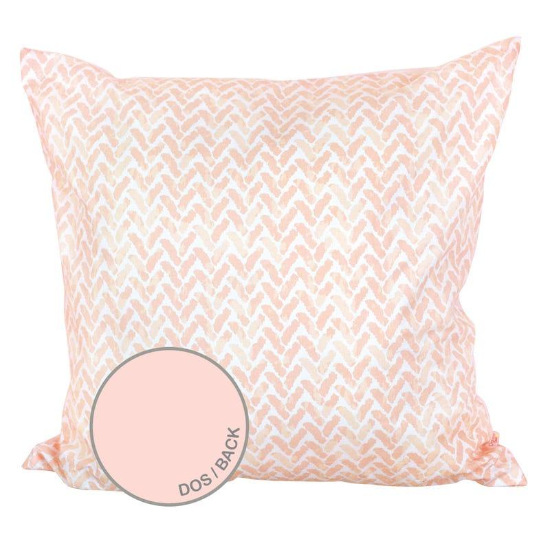 Reversible Large Cushion Chevron - Pink