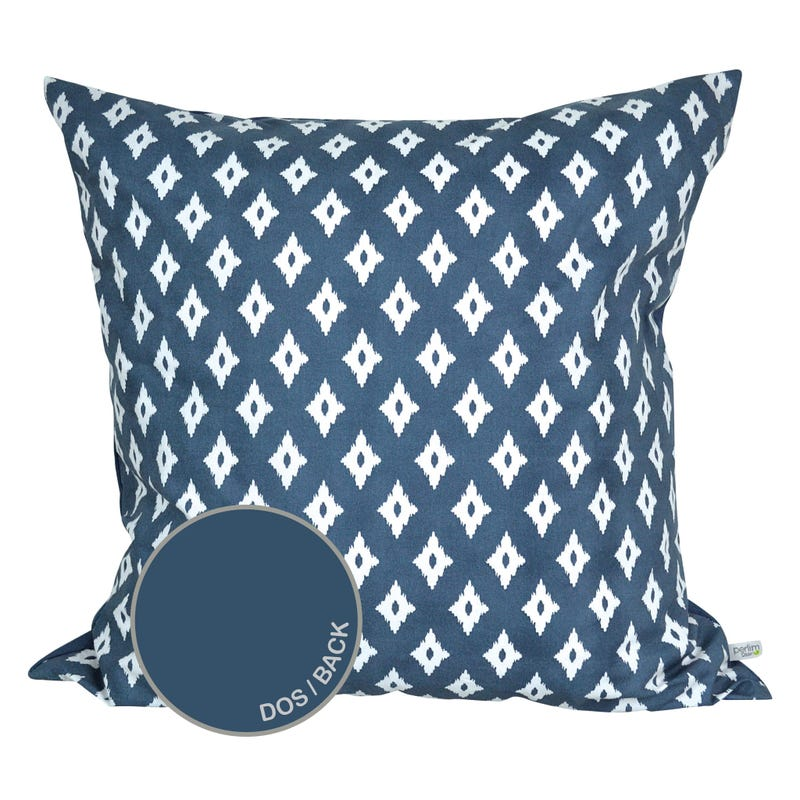 Reversible Large Cushion Diamond - Navy