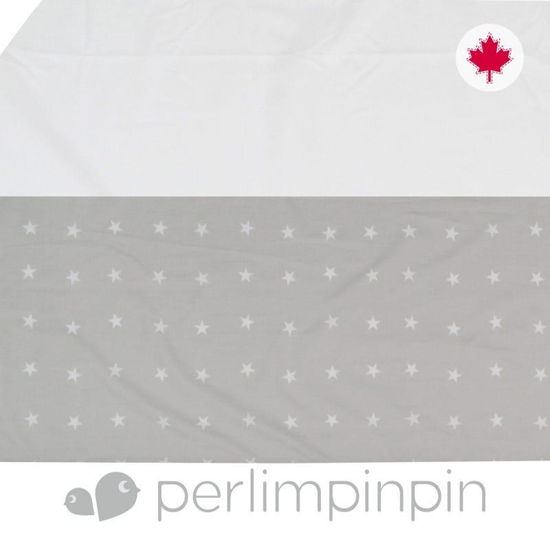 Printed Bed Skirt Stars - Gray