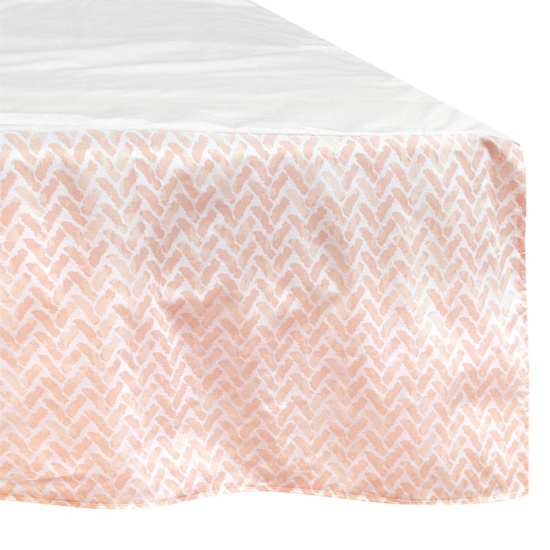 Printed Bed Skirt Chevron - Pink