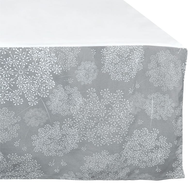 Bed Skirt for Baby - Dandelion Grey
