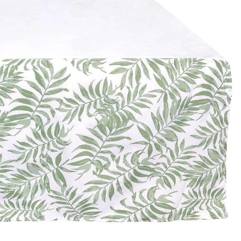 Bed Skirt for Baby - Tropical Green