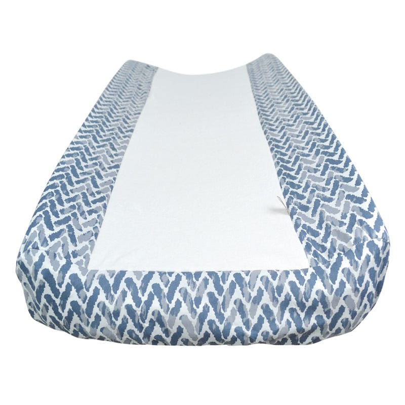 Changing Pad Cover Chevron - Blue