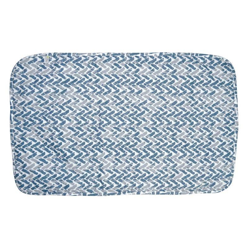 Alèse Imperméable Chevron - Bleu