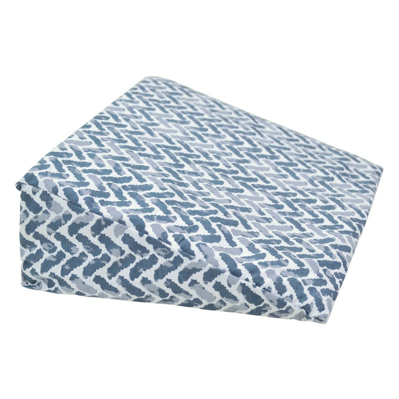 Wedge Pillow chevron - Blue