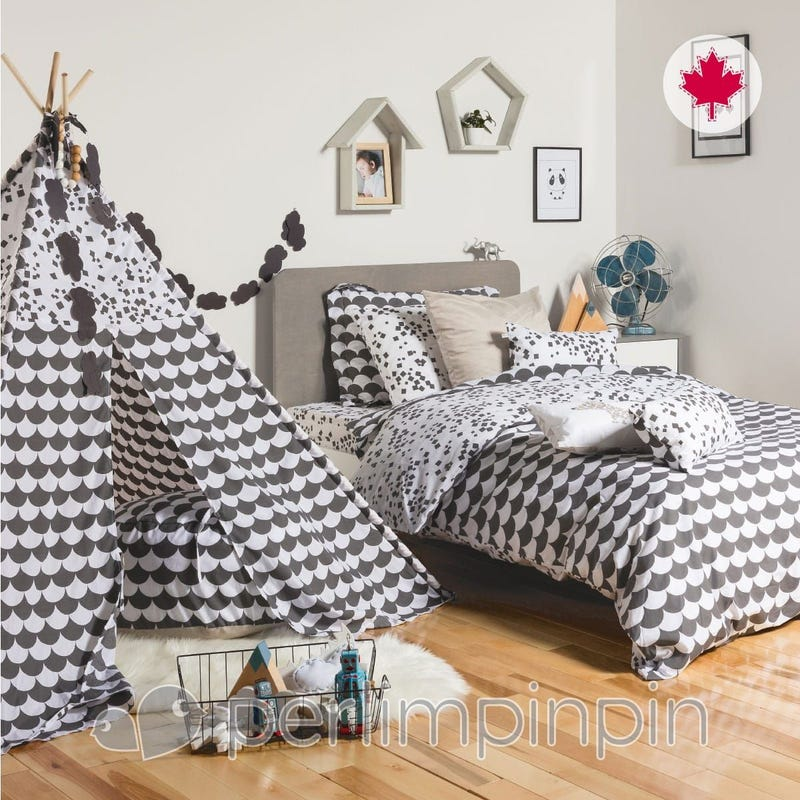 Twin Duvet Cover Set - Charbon