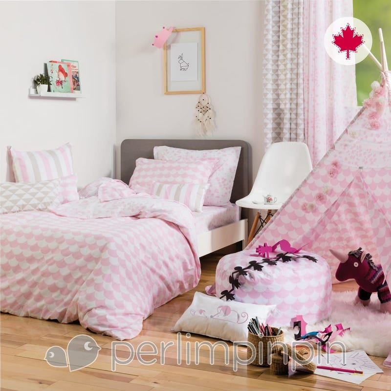 Twin Duvet Cover Set - Pink