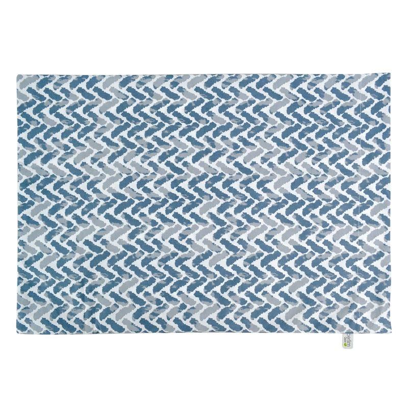 Small Pillowcase Chevron -Blue
