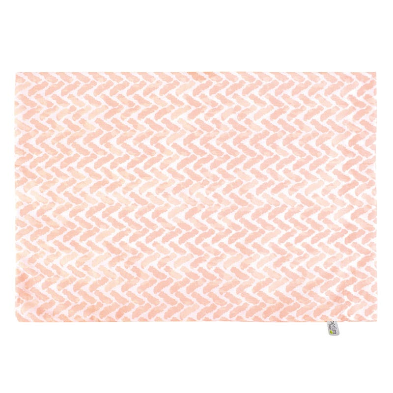 Pillow and Sham Chevron - Pink