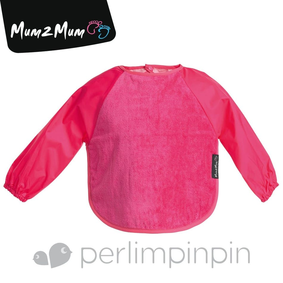 9a75824b09 Perlimpinpin Long Sleeves Bib 18m-3y - Pink - Clement