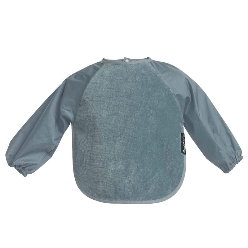Wonder  Bib With Sleeves  18m to 3 years- Gray