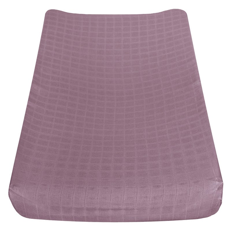 Muslin Changing Pad Cover - Plum