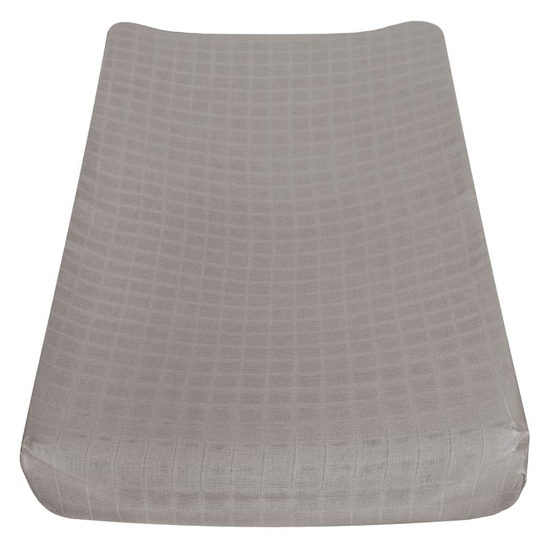 Muslin Changing Pad Cover - Taupe
