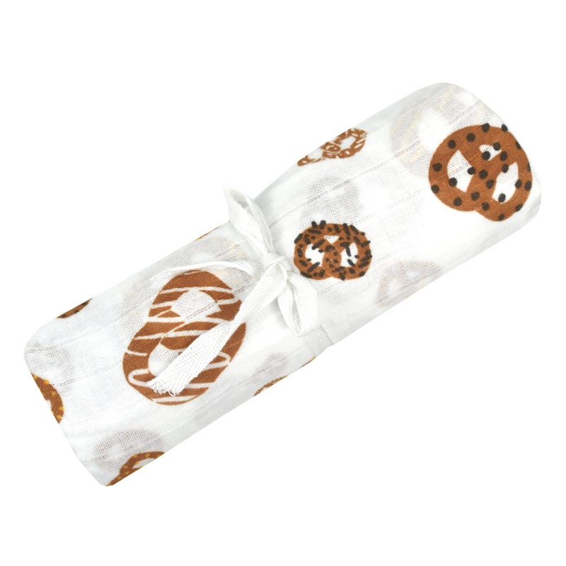 Cotton Muslin Swaddle Pretzel