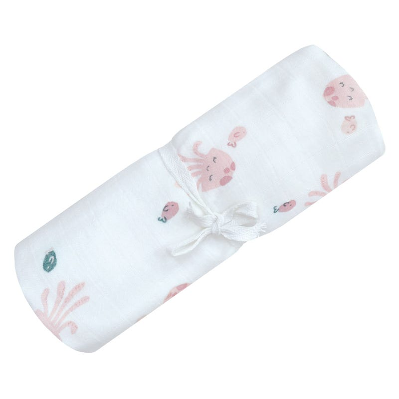 Cotton Muslin Swaddle Jellyfish
