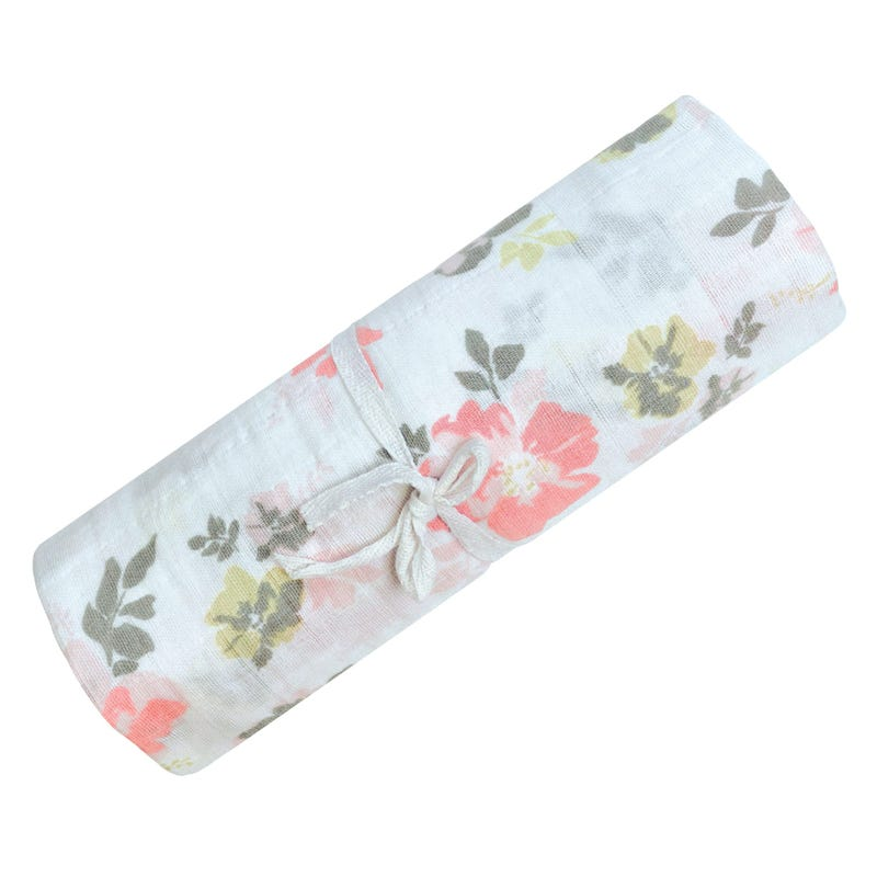 Cotton Muslin Swaddle Flowers