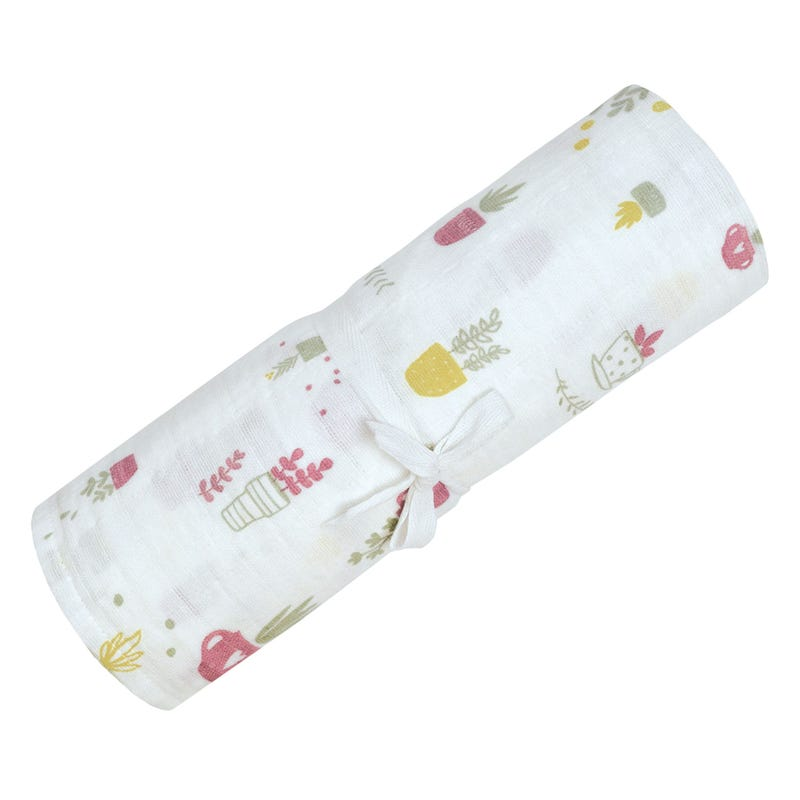 Cotton Muslin Swaddle Plants