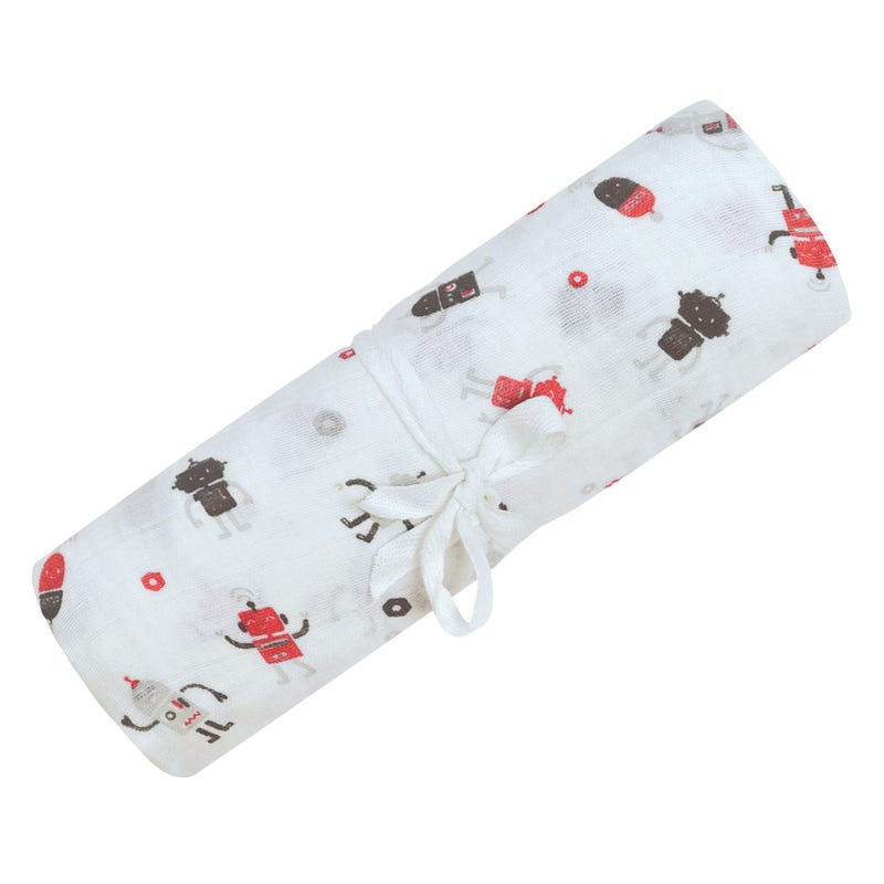 Cotton Muslin Swaddle Robots