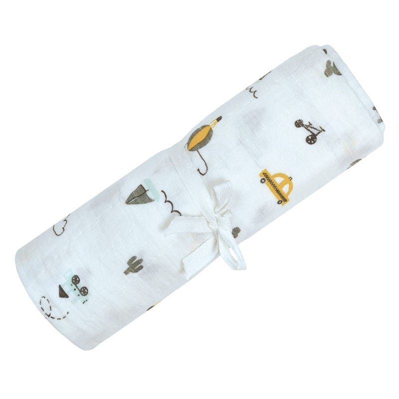 Cotton Muslin Swaddle Transport