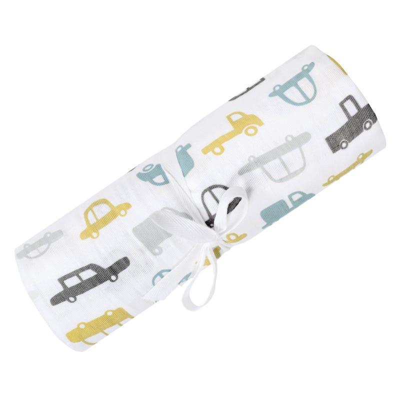 Swaddle Blanket Muslin Cars
