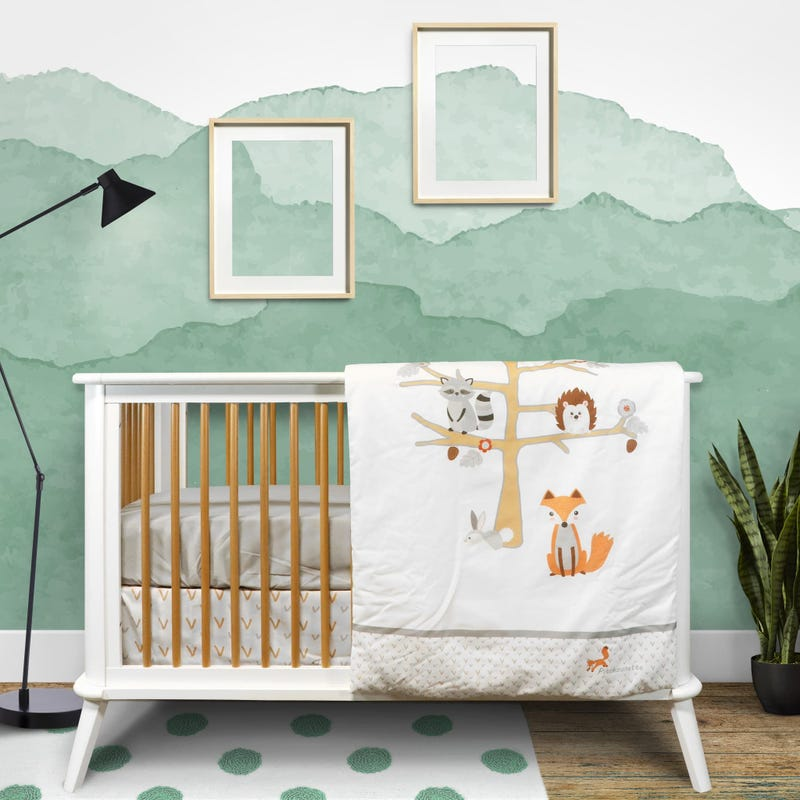 4-Piece Crib Bedding Set - Tree