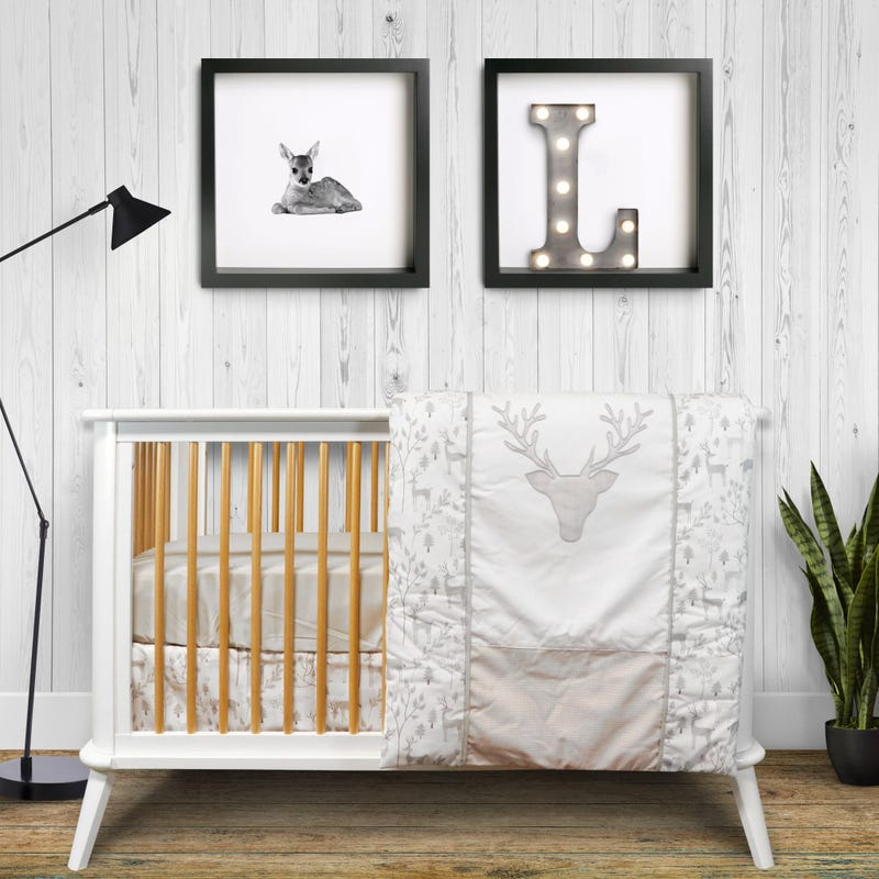 4-Piece Crib Bedding Set - Deer