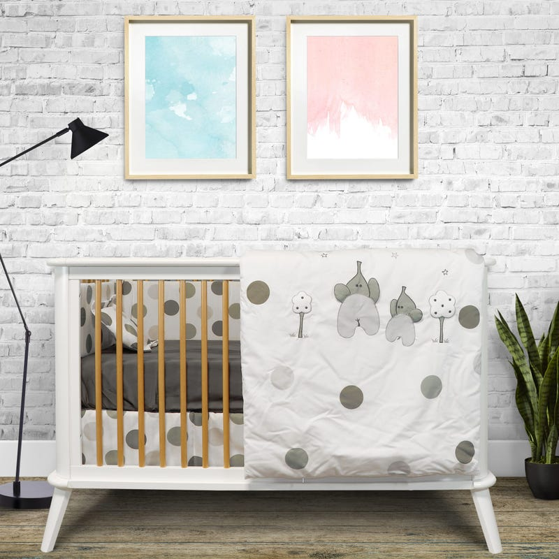 7-Piece Crib Bedding Set - Grisou