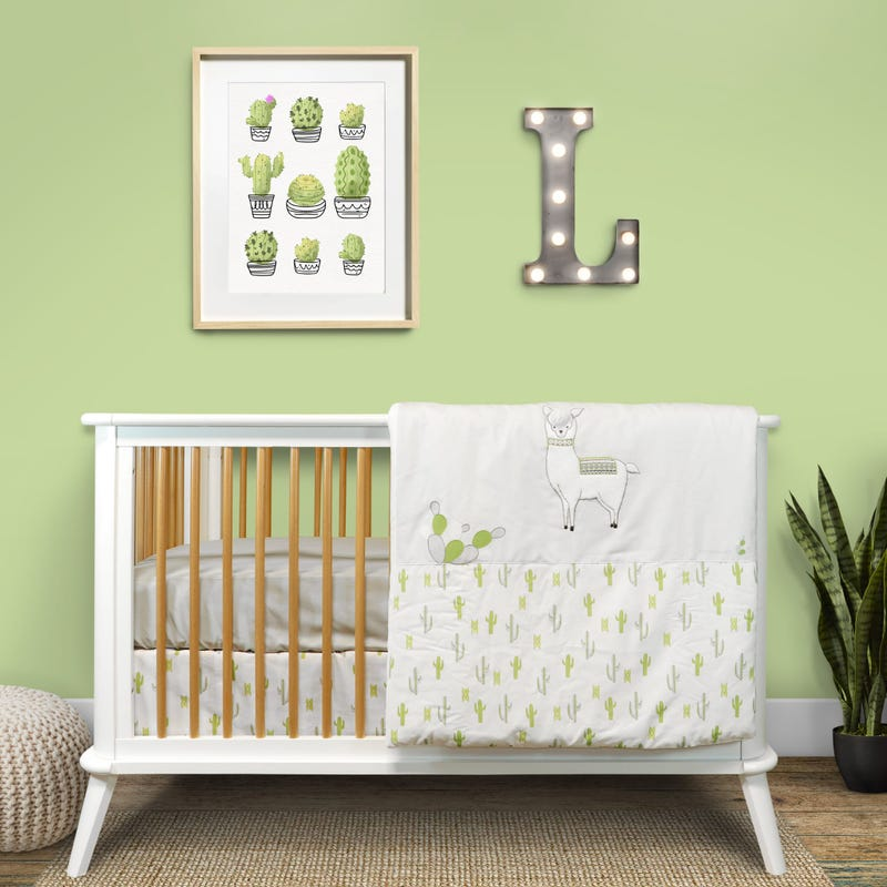 4-Piece Crib Bedding Set - Llama