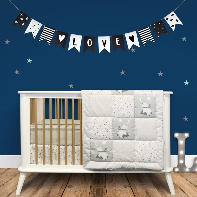 3-Piece Crib Bedding Set - Moon
