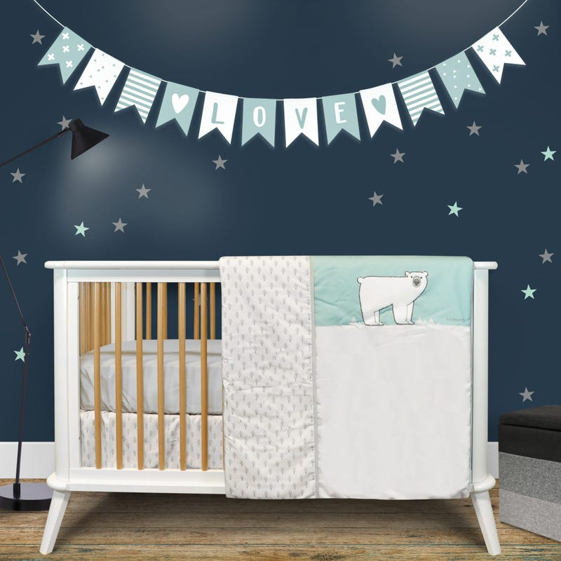4-Piece Crib Bedding Set - Polar