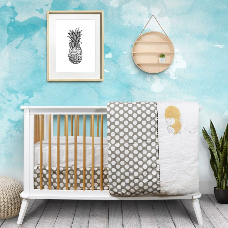 5-Piece Crib Bedding Set - Fox