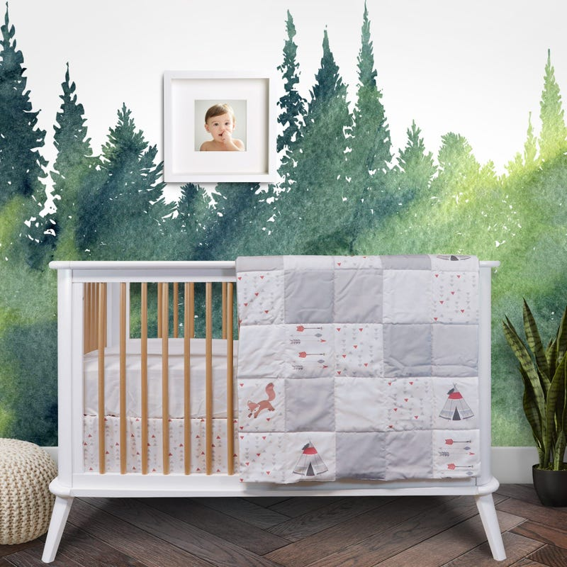 3-Piece Crib Bedding Set - Tipi