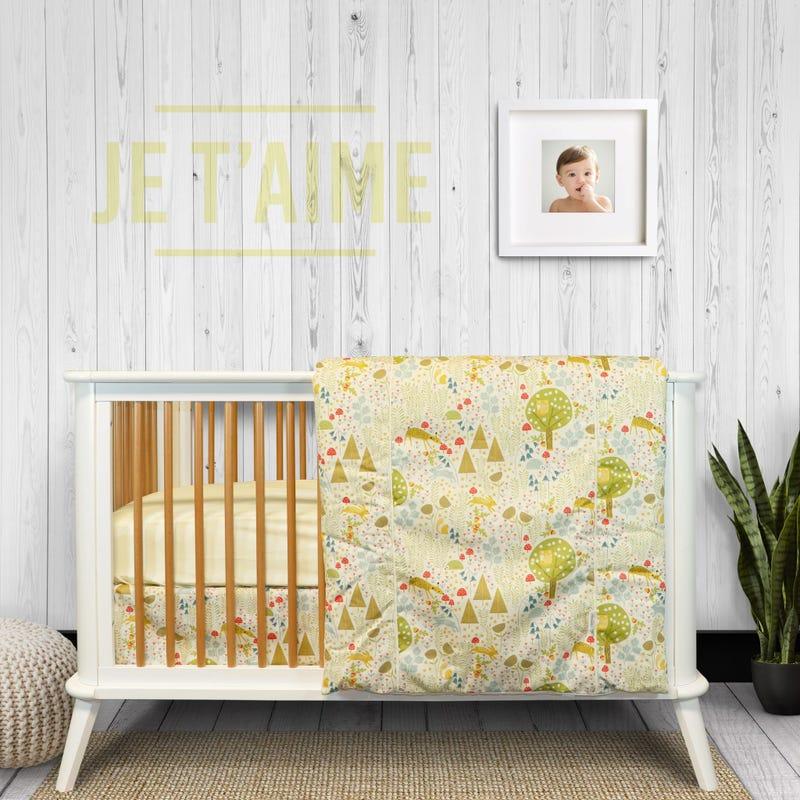 4-Piece Crib Bedding Set - Wild Wood