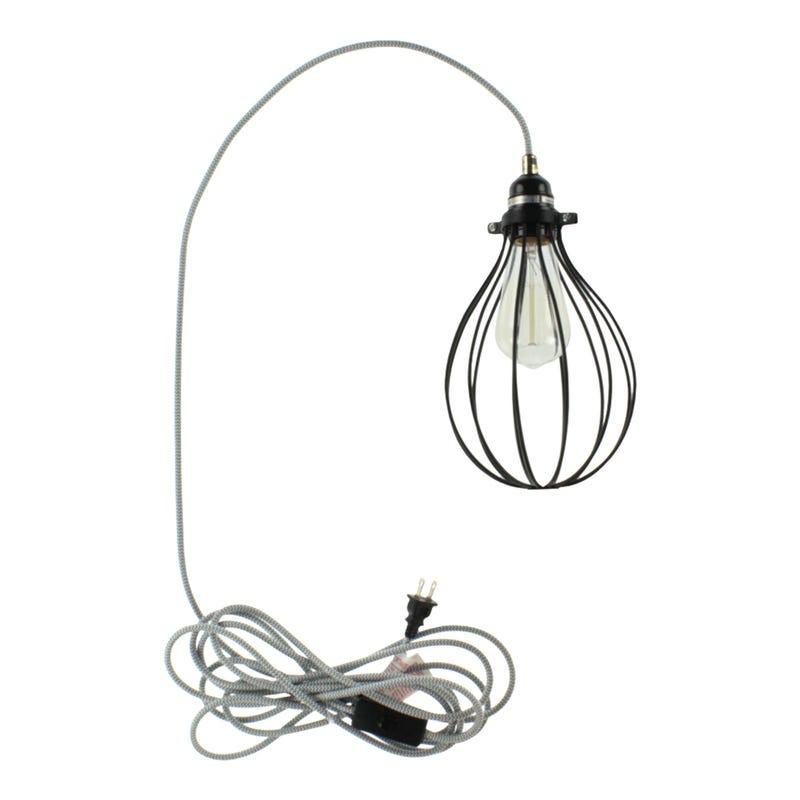 Cable d'Éclairage Gris et Argent