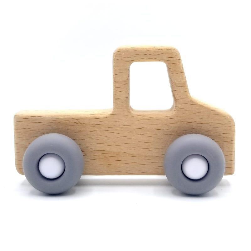 Teething Toy Westfalia - Wood/Gray