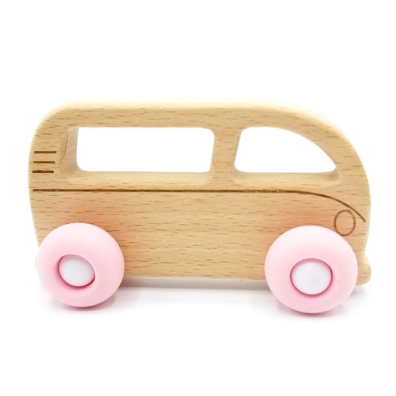 Teething Toy - Westfalia Wood/Pink