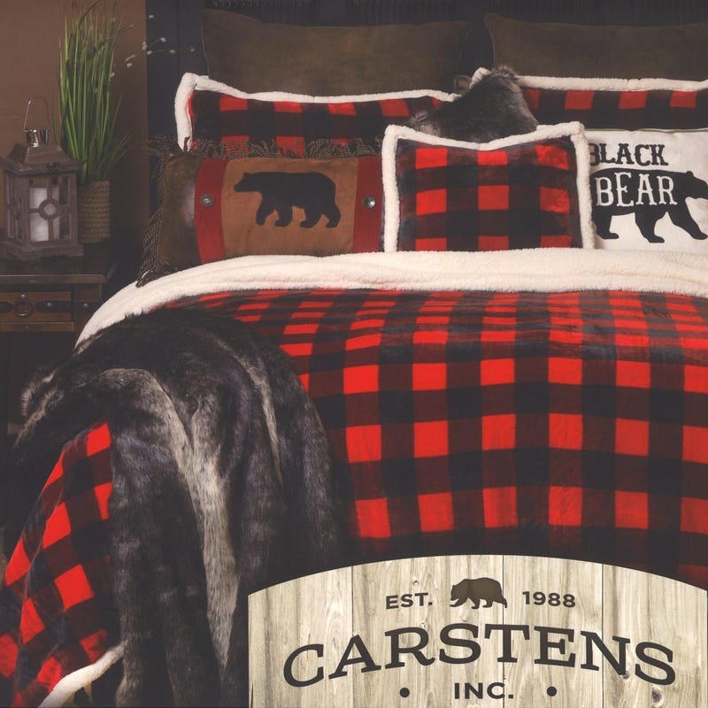 Twin Lumberjack Plaid Plush Bedding