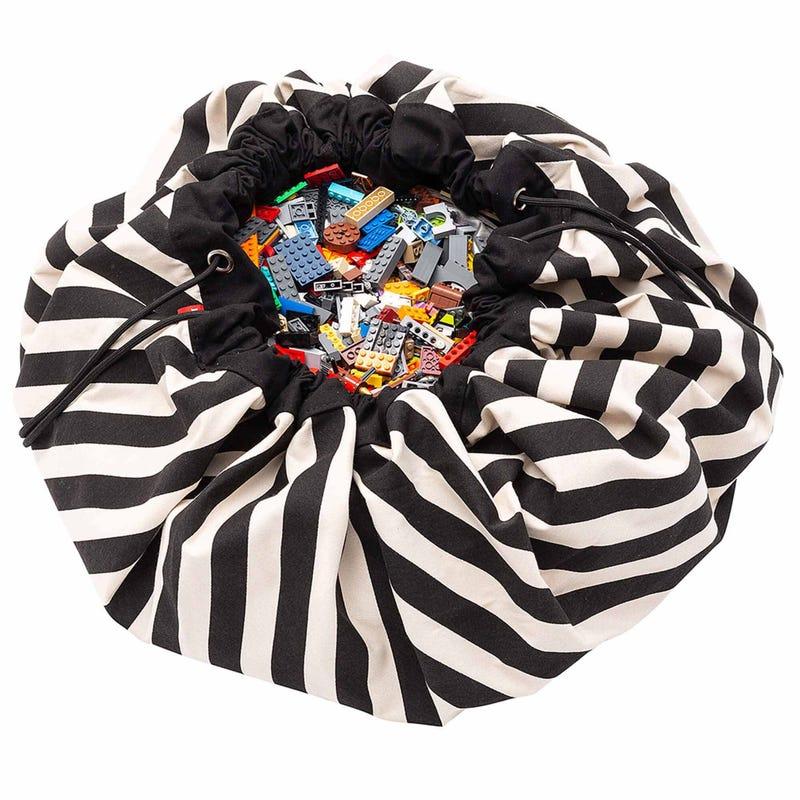 Play N Go Soft Playmat Bag - Stripes Black