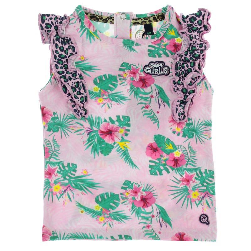 Flower Printed T-Shirt 9-24M