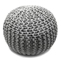 Knitted Stool - Grey