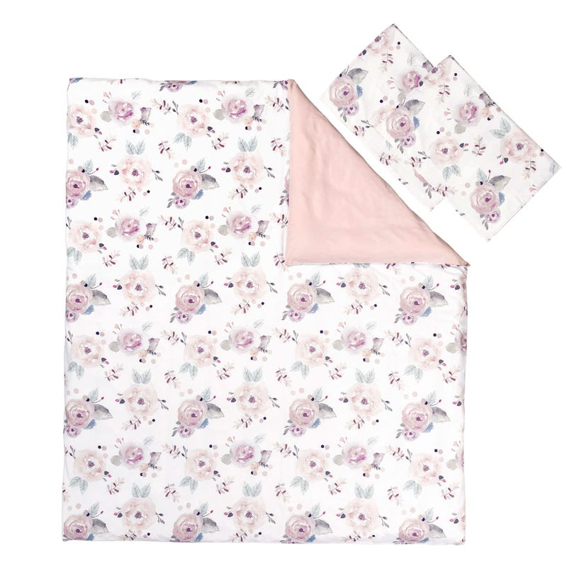 Duvet Cover Double Set - Floral pink