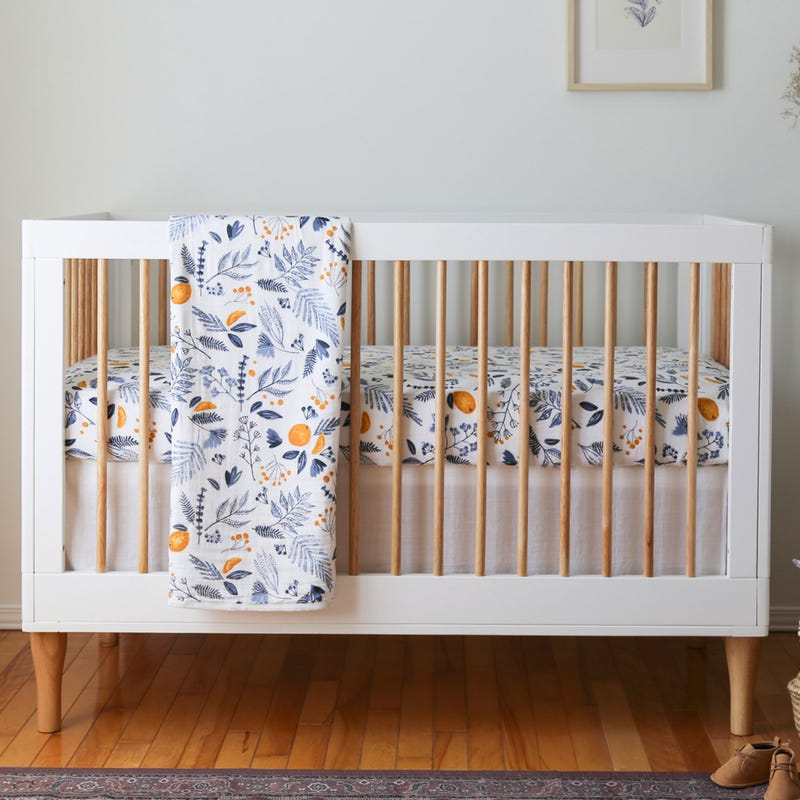 3-Pieces Muslin Baby Bedding Set - Citrus Grove